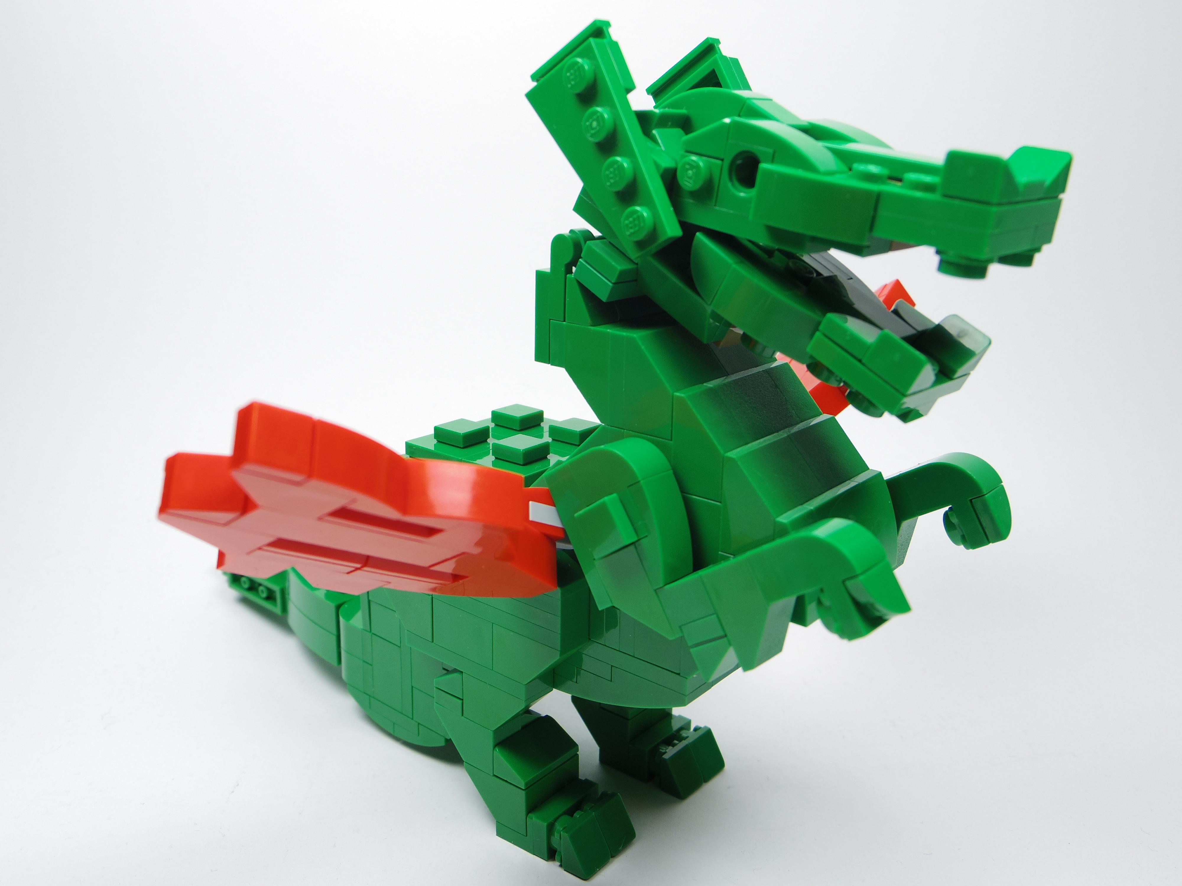 [查米]樂高經典動物-綠龍Green Dragon with Red Wings