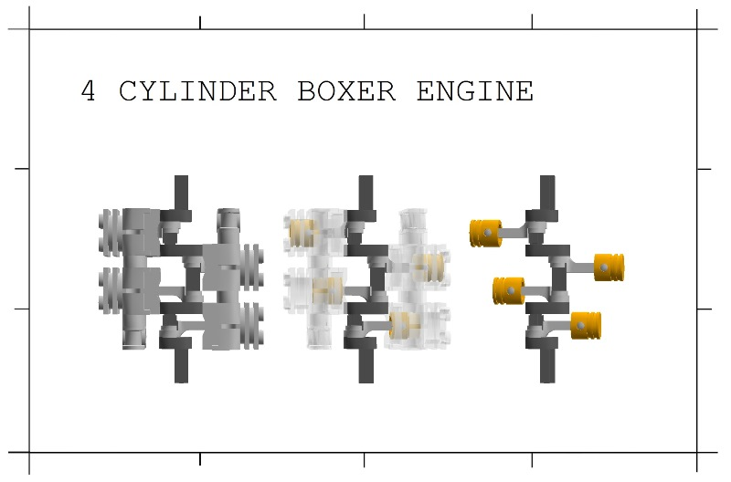 Brickshelf Gallery Four Cylinder Boxer Engine Jpg