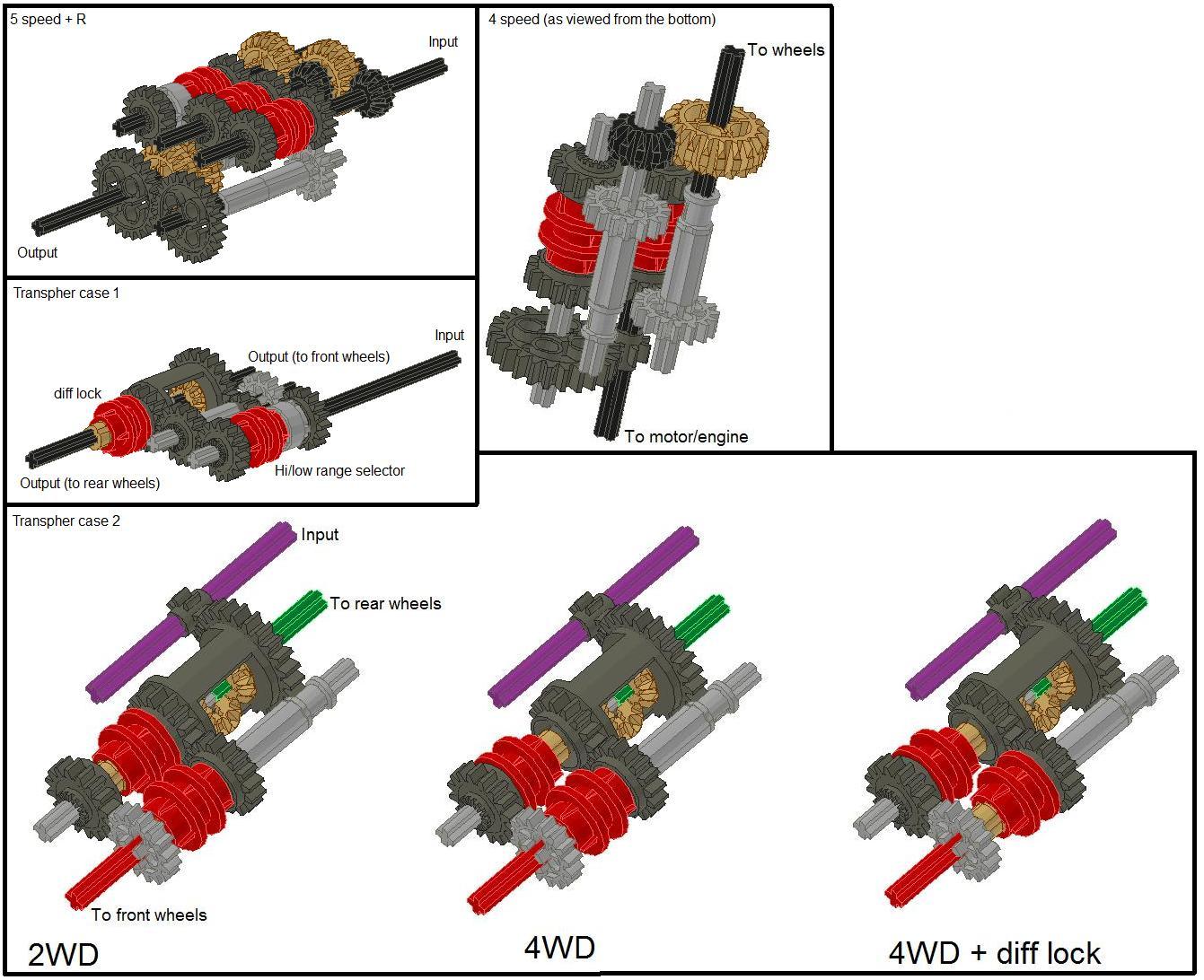 George Staples Lego Technic Transmission Tutorial Lego Technic And Model Team Eurobricks Forums