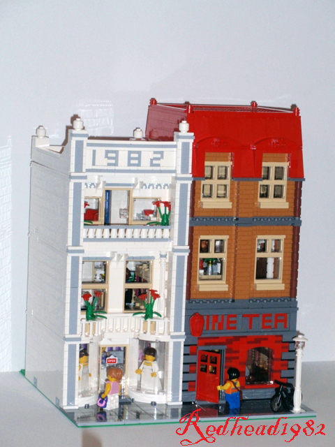 Modular madness tea house and bride 39 s dress boutique lego town eurob - Boutique lego londres ...