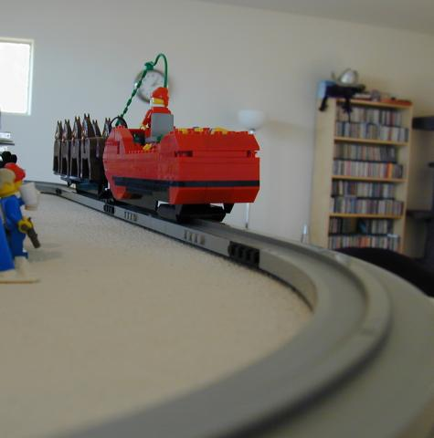 Lego monorail track