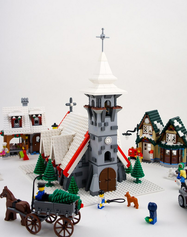 Lego winter village church