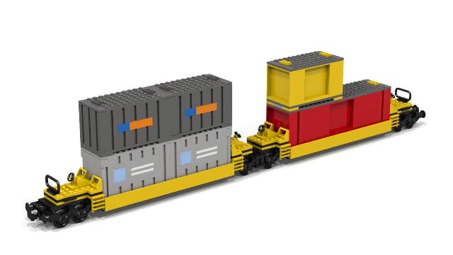 Moc Ttx Intermodal For 7939 Container Size Lego Train Tech