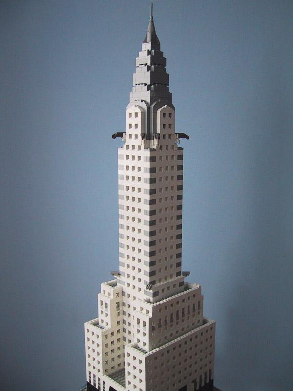 sean kenney art with lego bricks the chrysler building. Black Bedroom Furniture Sets. Home Design Ideas