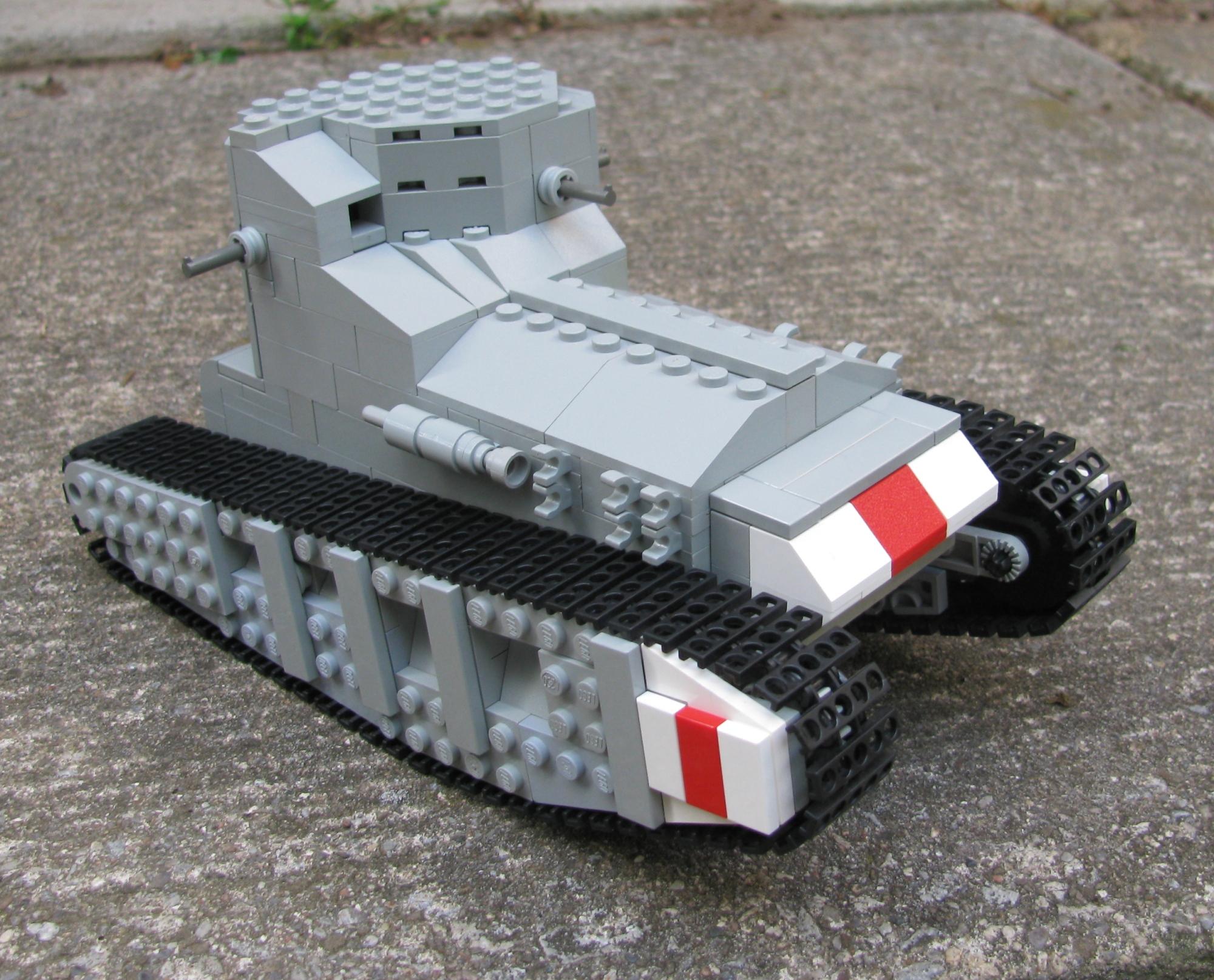 Как сделать из лего танк 1