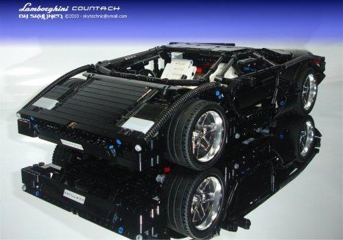 lego technic car racer lamborghini countach build. Black Bedroom Furniture Sets. Home Design Ideas