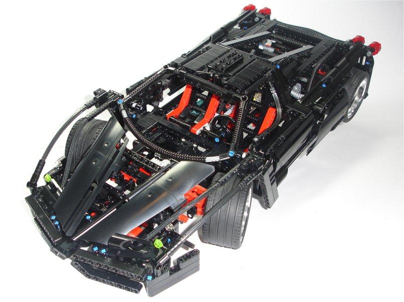 lego technic racers ferrari enzo 8653 custom black ebay. Black Bedroom Furniture Sets. Home Design Ideas