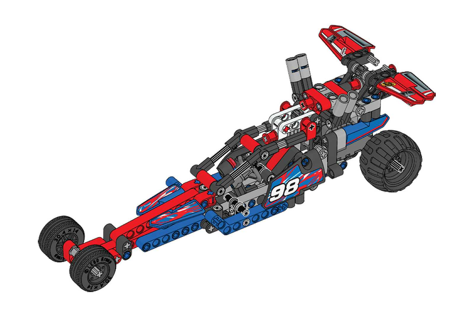 42010 42011 Dragster Pictorial Review Lego Technic