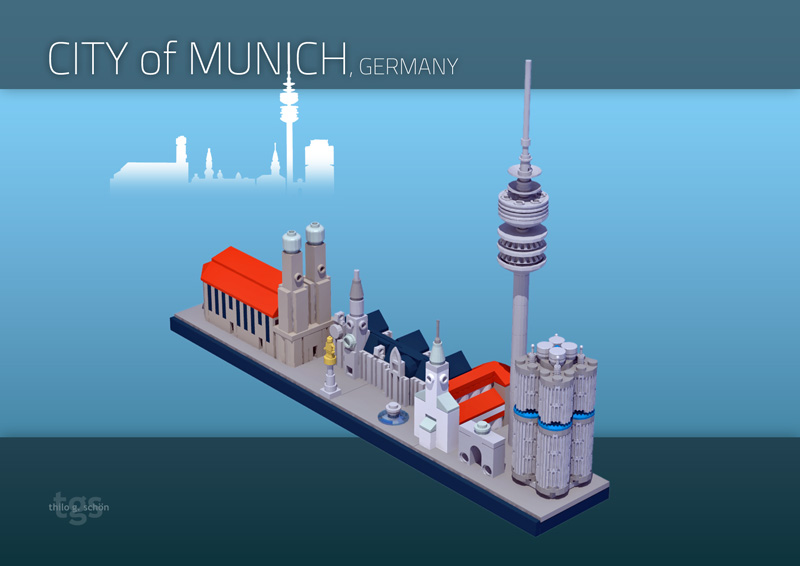 Moc Architecture Skyline Of Munich Instructions Available