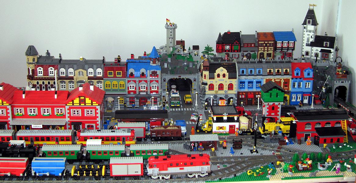 Lego city город