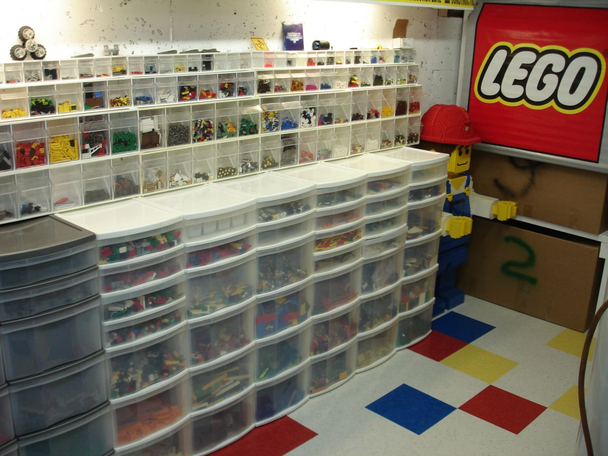 Storing sorting lego peices page 4 for Parts room organization