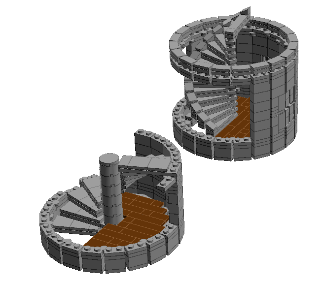 Building Circular Stairs In Ldd Lego Digital Designer