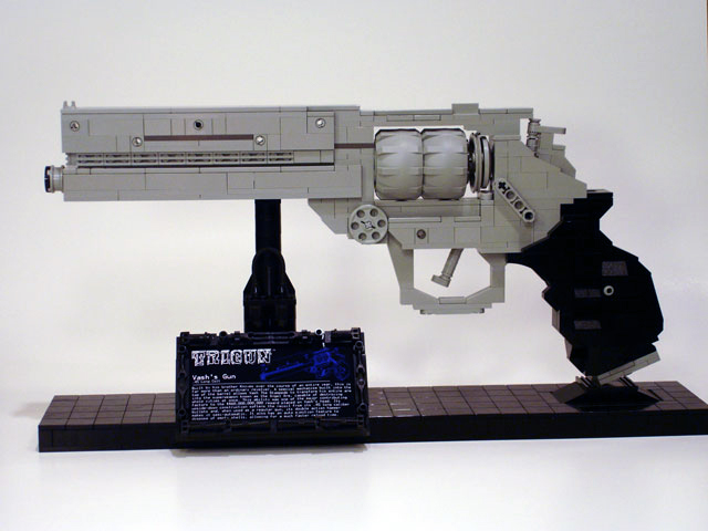 how to build a lego gun replica