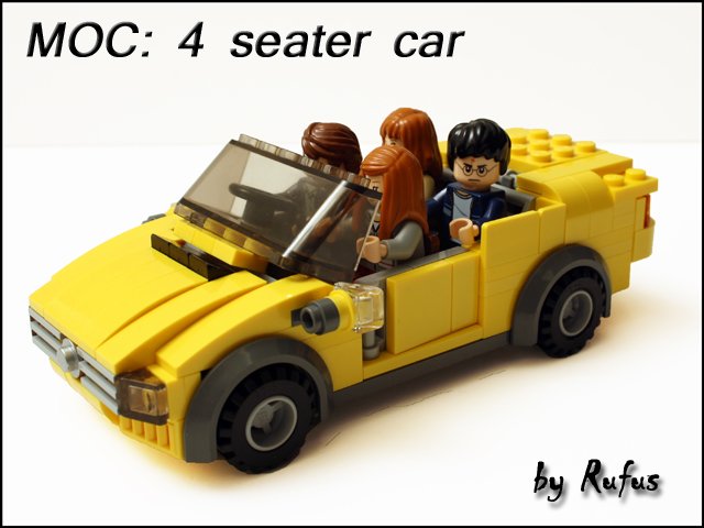 yellow lego car instructions