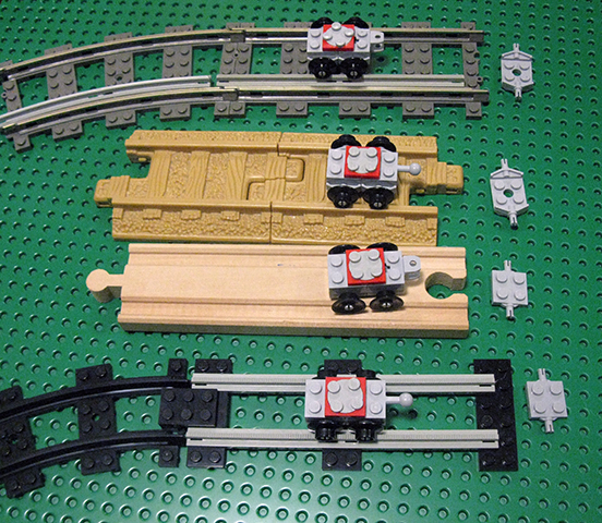 Moc 4 Wide Tiny Train Wooden Railway Compatible Lego